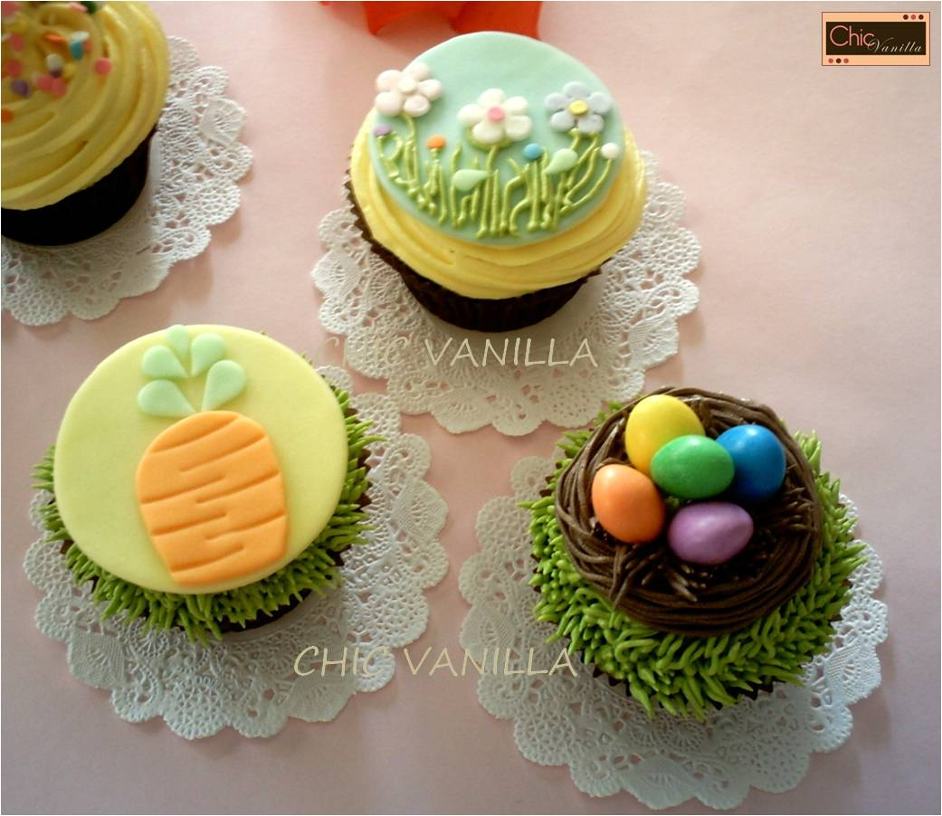 Easter chic cupcakes cupcake ideas for you for Cute cupcake decorating ideas for easter
