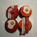 bacon and eggs colorful cupcake ideas