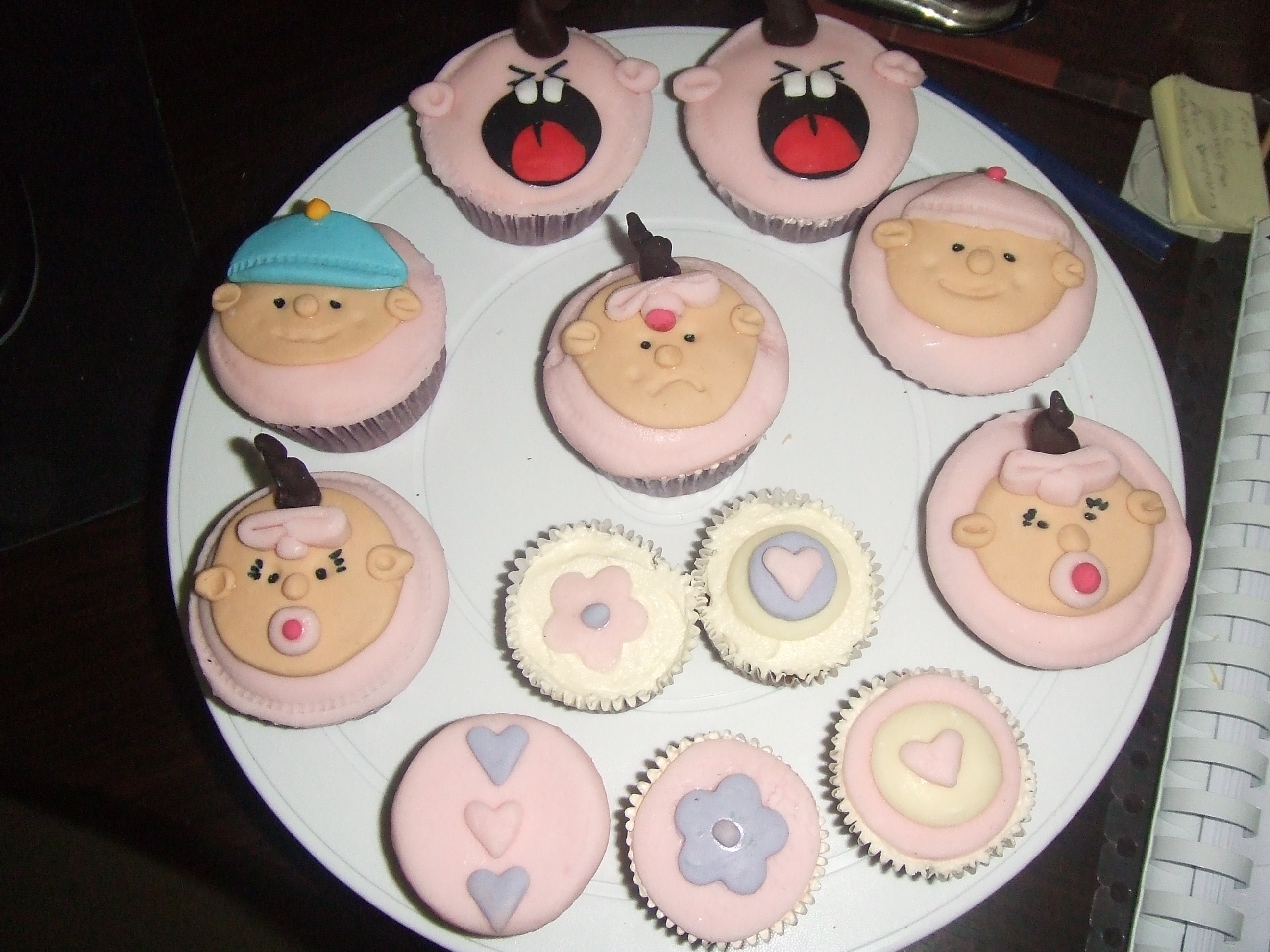 cupcake designs for baby shower boy  cake, Baby shower