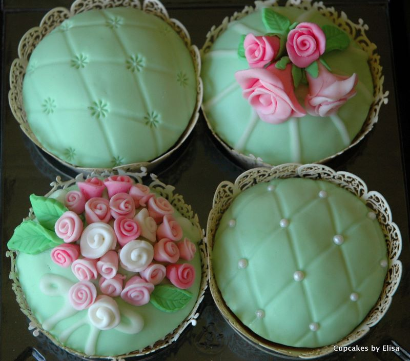 Wedding Cupcakes Ideas: Vintage Themed Wedding Cupcakes