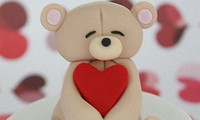 Valetine's Day cupcake ideas - I love you Beary much