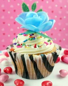 Cupcake decorating ideas - zebra cupcake wrapper