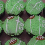 Football Cupcakes on the 50 Yard Line