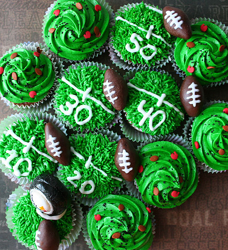 New Perfect Football Cupcakes