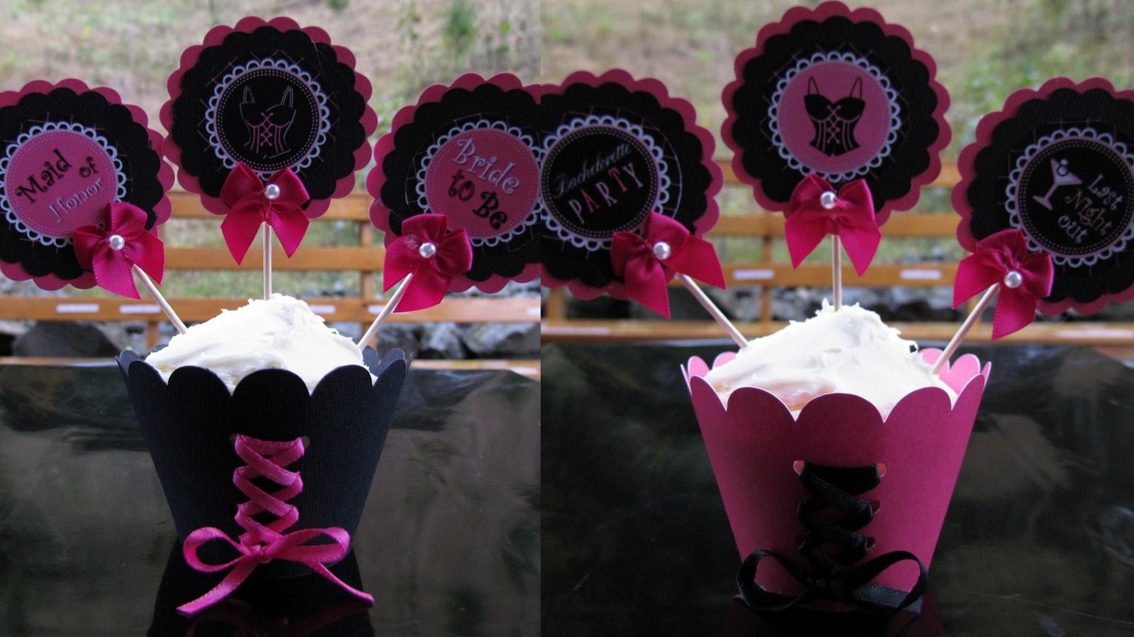 Cupcakes decorados para despedida de soltera